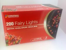 Red Fairy Christmas 200/100/40/20 Lights Shaped Fairy String Xmas Indoor