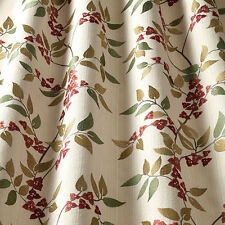 iLiv Bougainvillea Floral Embroidered Upholstery Curtain Fabric | Paprika