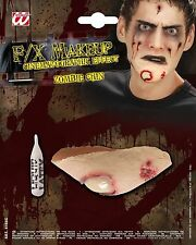 HALLOWEEN HORROR ZOMBIE CHIN MAKEUP SCAR WOUND PARTY FANCY DRESS ACCESSORY