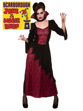 Vicious Vampiress Costume ~ Halloween Fancy Dress Outfit ~ Various Sizes NEW