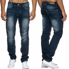 Herren Regular Fit Jeans Nr.1608 Stone Washed Denim Five Pocket Hose Straight