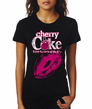 "Coca Cola "" Cherry Coke"" Black Woman T-shirt"