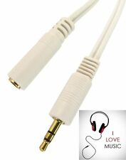 3.5mm Jack Audio Stereo Plug AUX Extension Cable Male to Female socket Gold Ends