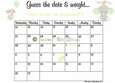 Personalised Baby Prince Guess the Baby/'s Due Date /& Weight Baby Shower Game