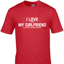 I LOVE IT WHEN MY GIRLFRIEND LETS ME WATCH WYCOMBE WANDERERS  funny t shirt
