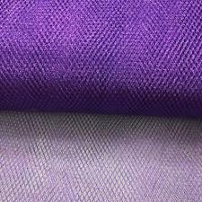 Purple METALLIC Dress Net Fish Net TUTU Fabric Material Tulle Mesh Material 150