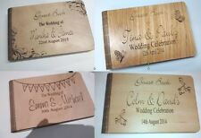 PERSONALISED WEDDING GUEST BOOK WEDDING UNIQUE DESIGN LASER ENGRAVED