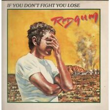 REDGUM If You Don't Fight You Lose LP VINYL 10 Track Has A Little Staining To