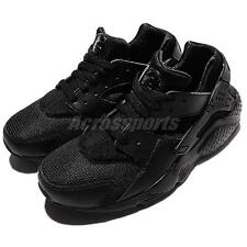 Nike Huarache Run GS Triple Black Kids Junior Running Shoes Sneakers 654275-016