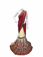 INDIAN ETHNIC BOLLYWOOD NEW DESIGNER SAREE PARTYWEAR SARI GEORGETTE SAREE BLOUSE