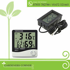 Hydroponics Digital Thermometer Grow Tent Hygrometer Humidity and Temperature