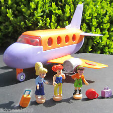 Mini Polly Pocket 100% complete Tour Jet - Polly and the Pops Flugzeug 3 Koffer