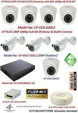 CP PLUS 2 MP 8 HD IR Dome & IR Bullet Camera with 8Ch Full HD DVR KIT