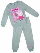 Official Licensed Peppa Pig Grey Tracksuit Bow Design