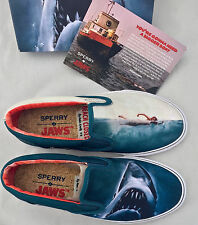 9 Sperry Top-Sider x Jaws Striper Slip On Shark Attack Boat Shoe Movie Poster