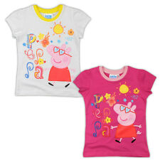 RAGAZZE PEPPA PIG T-SHIRT ETÀ 2 3 4 5 6 7 OFFICIAL PEPPA PIG ESTATE T-SHIRT