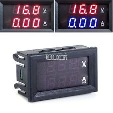 Lotti Doppio Display LED DC 0-100V 10A Voltmetro Digitale Ammeter Pannello