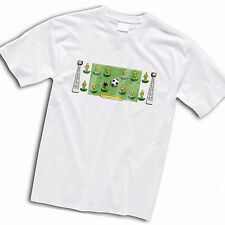 Norwich City Football Team Retro Subbuteo Style T-Shirt