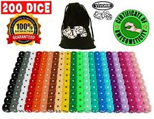 200 Assorted Dice, 20 Different Colors, 10 Dice Of Each Color, 16mm, Tenzi etc