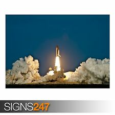 SPACE SHUTTLE DISCOVERY LAUNCH (4037) Photo Picture Poster Print Art A0 to A4