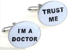 TRUST ME I'M A DOCTOR PAIR NEW QUALITY CUFFLINKS SHIRT NOVELTY JOBS PROFESSION