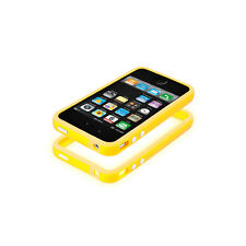 *CP*  Custodia Bumper per Apple iPhone 4s, in silicone TPU - Giallo -uy2-