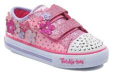 Girls Skechers Twinkle Toes - Pretty Blossoms Flashing, Light Up Low Top Shoe