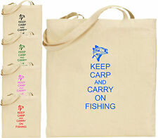 Keep Carpa E Carry On Pesca L Cotone Borsa Shopper Regalo Divertente Pesca