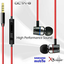 X3 SOUND OCTA-8  IN-EAR EARPHONE WITH MIC & REMOTE SAMSUNG NOTE , GRAND