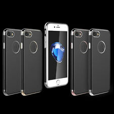 Ultra thin Plating Frame Glossy Black Chrome TPU Case For Apple iPhone 7 Plus