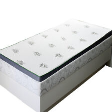 "Twin XL Abripedic 2.5"" Cool Best Gel Memory Foam Mattress Topper Hypoallergenic"