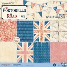 Papermania Portobello Road Union Jack drapeau paquet papier & Album sélections