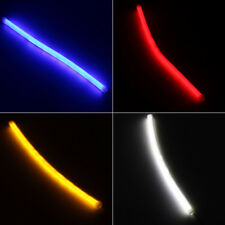 2pcs Car Turn Signal Light Lamp  DRL Flexible Soft Tube Guide LED Strip 4 Colour