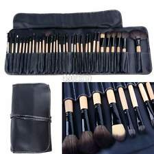 Professionale 32pz Nero Make Up Cosmetico Pennelli Makeup Kit Set con custodia/