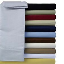 Cal-King Royal Collection Super Soft & Wrinkle-Free Microfiber Solid Sheet Set
