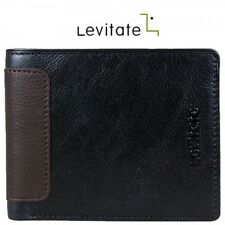 Levitate Men Genuine Leather Wallet LVT017 Black Color
