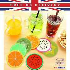 Colourful Silicone Fruits COASTER Novelty CUP Watermelon Kiwi MAT Drink Holder