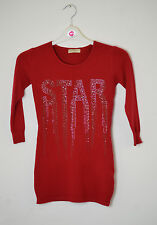 New Kids Girls Star Studded Long Sleeve Jumper  4 - 13 years