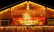 5m LED curtain ICICLE string fairy Christmas lights Wall Garden party Decoration