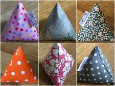 FABRIC PATTERN WEIGHTS sets of 5 Pyramids EXCLUSIVE RANGE OF DESIGNS