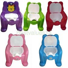 CHILD TOILET SEAT POTTY TRAINING SEAT CHAIR REMOVABLE LID KIDS BABY NEW