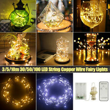 30/50/100 LED String Copper Wire Fairy Lights Battery Powered Waterproof Decor