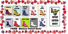 DR MARTENS 1460 HOT PINK PATENT, ROT LACK, WEIß PATENT & SCHWARZ LACK LAMPER