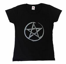 Pentacle Pentagram Wicca Wiccan Pagan Womens Halloween T Shirt