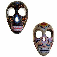 Hand Carved Wooden Skull Candy Sugar Skull Day Of The Dead Skull Wall Mask