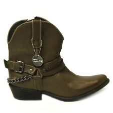 BRONX Stiefelette Damen 43468-A Mustang Taupe
