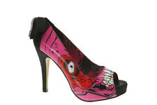 Iron Fist Gold Digger Zombie Stomper New Platform Rock Heel Shoes Pink Red White