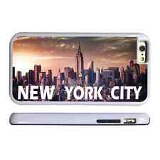 NEW YORK SKYLINE 2 WHITE PROTECTIVE PHONE CASE COVER FITS IPHONE 4 5 6 7