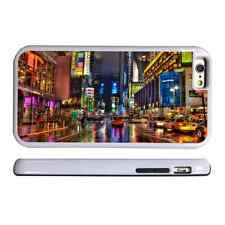 NEW YORK LIGHTS WHITE PROTECTIVE PHONE CASE COVER FITS IPHONE 4 5 6 7