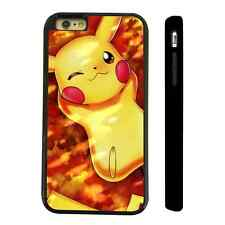 LAZY PIKACHU POKEMON BLACK PROTECTIVE PHONE CASE COVER FITS IPHONE 4 5 6 7